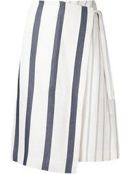 полосатая юбка с запахом Grey Jason Wu