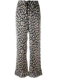 брюки с леопардовым принтом   Equipment