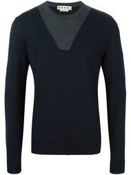 свитер с контрастной вставкой  Marni