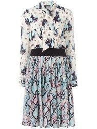 платье с абстрактным принтом   Fausto Puglisi