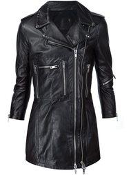 удлиненная байкерская куртка  R13