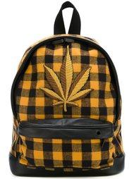 рюкзак в клетку с логотипом  Palm Angels