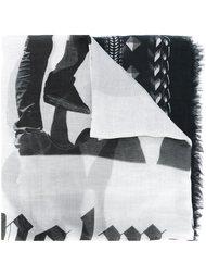 шарф с геометрическим узором  Palm Angels