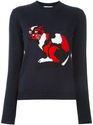 свитер с принтом кота  MSGM