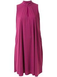 платье шифт с высоким воротником Pearl