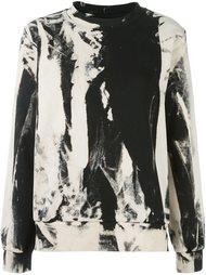 толстовка с абстрактным принтом   Mm6 Maison Margiela