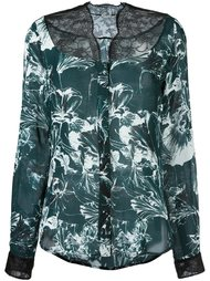 блузка с цветочным принтом   Emanuel Ungaro