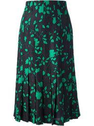 юбка в цветочный принт Jean Louis Scherrer Vintage