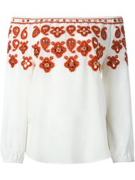 блузка с вышивкой Tory Burch