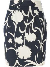 юбка-карандаш с цветочным принтом  Moschino Vintage