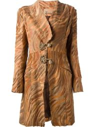tiger print coat John Galliano Vintage