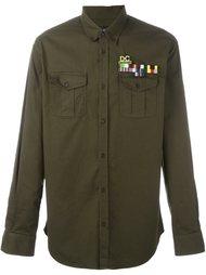 рубашка в стиле милитари Dsquared2
