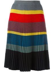 плиссированная юбка в полоску Tomas Maier