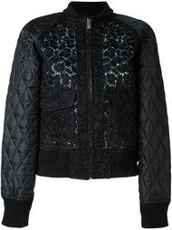 кружевная куртка-бомбер  Sacai