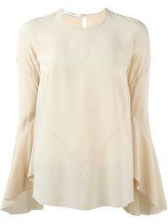 блузка с расклешенными рукавами  Givenchy
