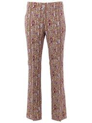 geometric print flared trousers Giambattista Valli