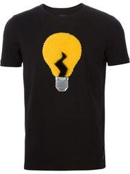 футболка с аппликацией лампочки Fendi