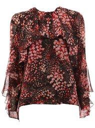 блузка с принтом лепестков Giambattista Valli