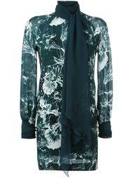 платье с цветочным принтом   Emanuel Ungaro