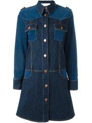 джинсовое платье с панельным дизайном See By Chloé