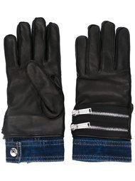 перчатки с контрастными манжетами Dsquared2