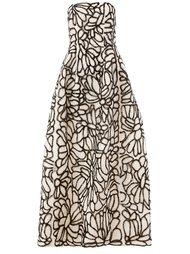 декорированное платье  Oscar de la Renta