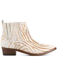 ботинки по щиколотку с зебровым принтом  Golden Goose Deluxe Brand