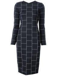 приталенное платье в клетку Christian Siriano