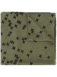 шарф с принтом звезд Dsquared2