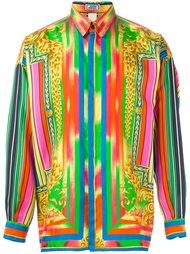 рубашка с принтом Барокко Versace Vintage