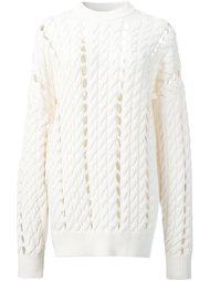 свитер открытой вязки Alexander Wang