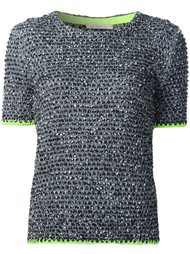 tweed short sleeve sweater Christopher Kane