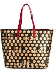 сумка-тоут в горох Love Moschino