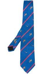галстук с вышивкой Fendi Vintage