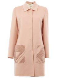пальто с карманами  Fendi