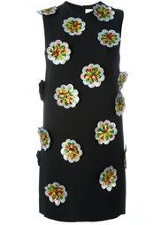 платье с цветочной аппликацией  Victoria Victoria Beckham