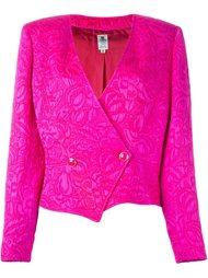 пиджак с цветочным узором Emanuel Ungaro Vintage