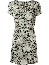 платье с цветочным принтом Saint Laurent