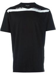 футболка с контрастной полоской  Emporio Armani