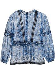 блузка с узором  Veronica Beard