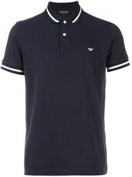 футболка-поло  с контрастной окантовкой  Emporio Armani