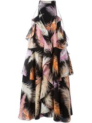 платье с принтом пальм  Emilio Pucci