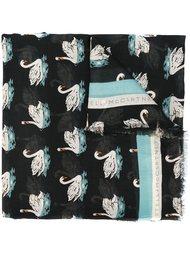 шарф с принтом лебедей Stella McCartney