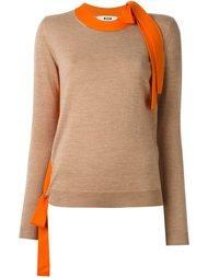свитер с контрастными панелями MSGM