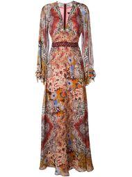"""длинное платье с принтом """"арабеска"""" Etro"""