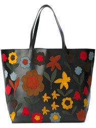 сумка-тоут с цветочной аппликацией Red Valentino