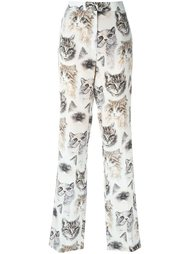 брюки с принтом котов Stella McCartney