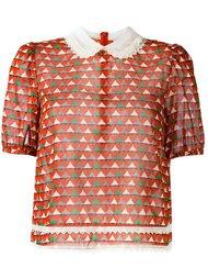 блузка с принтом сердец Red Valentino