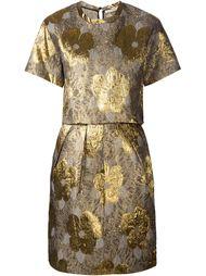 жаккардовое платье с цветочным узором Amen