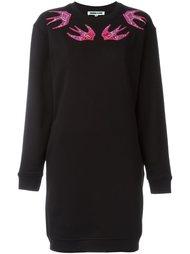 платье-толстовка с вышивкой ласточек  McQ Alexander McQueen